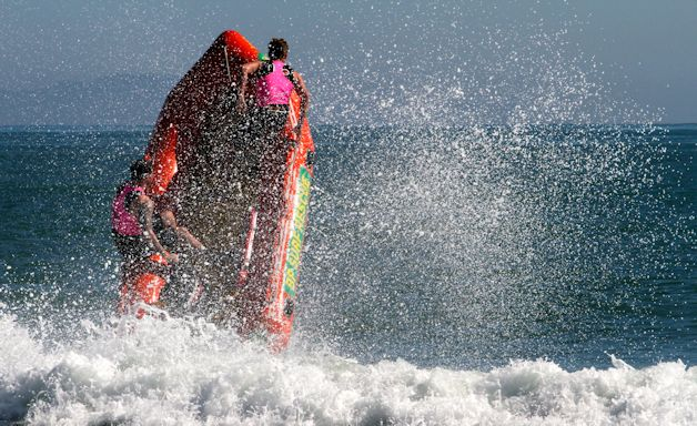 IRB action, Papamoa Beach